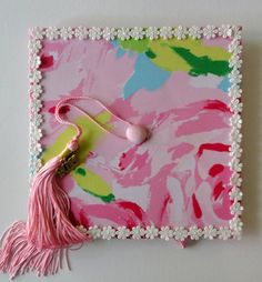 Ready to ship Lilly Pulitzer Graduation Cap from alphabulous on Etsy - Decoration For Home Sorority Graduation, College Sorority, College Fun, College Life, Graduation Cap Designs, Graduation Cap Decoration, Grad Cap, Graduation Caps, Cute Caps