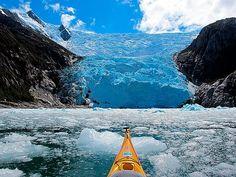glaciar Italia , canal Beagle , Chile