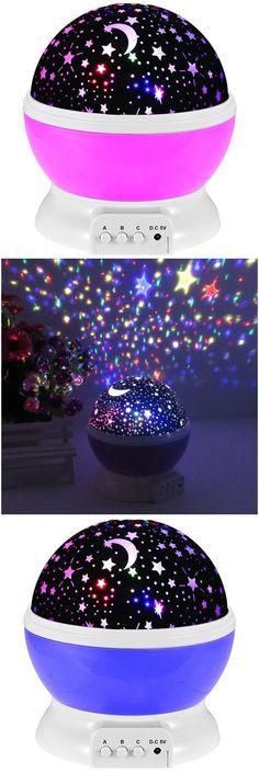 $10.97 Mew Starry Sky Babysbreath Autorotation LED Night Light
