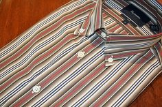 Faconnable  Striped Sport Shirt Brown | #Mondo #Uomo #Naples #Fashion