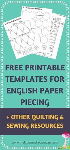 Image result for English Paper Piecing Templates