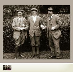 1913 U.S. Open Playoff at The Country Club in Brookline, MA - Harry Vardon, Francis Ouimet, Ted Ray. Ouimet's victory after an 18-hole playoff against Vardon and Ray was hailed as a stunning upset over the strongly-favored Brits.