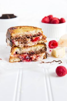 Raspberry Nutella Grilled Cheese
