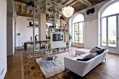 Set System with TV Panel de Former | Conjuntos de salón