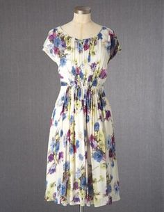 Boden Women Cecily Tea Dress Light Floral  Multicolor US10R UK14 EU42 $198 WH597 #Boden #TeaDress #Casual