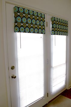 No sew Window Cornice from foam board, batting, and fabric. I need this for my vertical blinds!! Links to several window treatment ideas.