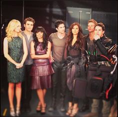 The Vampire Diaries Season 5 Photoshoot: The Cast Behind the Scenes