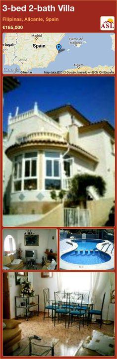 3-bed 2-bath Villa in Filipinas, Alicante, Spain ►€185,000 #PropertyForSaleInSpain