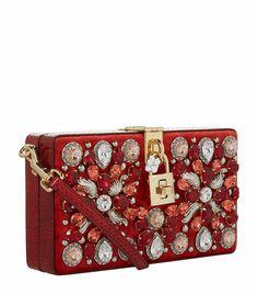 Dolce & Gabbana Mirrored Baroque Dolce Box Bag, Medium Yellow