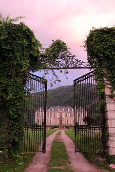 """""""Welcome to Château de Gudanes. A glorious picture at sunrise."""""""