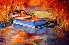"""Blue Row Boat"" par Marcia Baldwin"