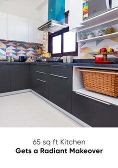 Doing a small modular kitchen design for this family in Dwarka was a great experience for Livspace. Check out this small kitchen interior design Kitchen Cabinets India, Kitchen Cupboard Designs, Kitchen Tiles Design, Modern Kitchen Design, Interior Design Kitchen, Modern Bar, Kitchen Modular, Compact Kitchen, Kitchen Small