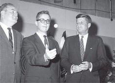 Senator Humphrey at left and Senator Kennedy at right.