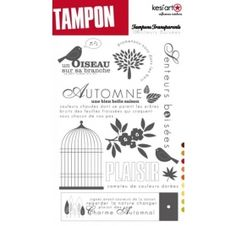 Tampons transparents - Kesi'Art - Senteurs Boisées