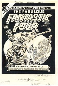 John Romita Sr. - Marvel Treasury #2 - Fantastic Four Comic Art
