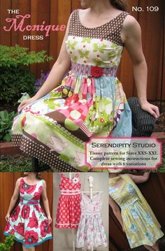 The Monique Dress from serendipity patterns.  I wish I could see this in a different fabric.