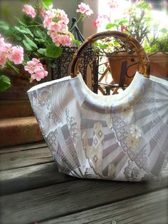 Obi / Kimono / Bag / WH772 Beautiful Fan And by RummyHandmade