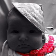 My beautiful daughter Mathilda! Sporting her straw hat and red scarf :)