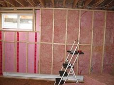 Properly insulate basement walls with extruded polystyrene and fiberglass - Houses interior designs