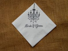 Bride and Groom White Wedding Cocktail Napkins by CharlestonCharms, $15.00