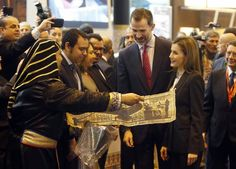 King Felipe VI of Spain and Queen Letizia of Spain attend 'FITUR' International Tourism Fair opening at Ifema on January 28, 2015 in Madrid, Spain.