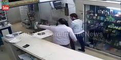 فيديو للاعتداء على صيدلية الاسماعيلية من كاميرات مراقبة الصيدلية