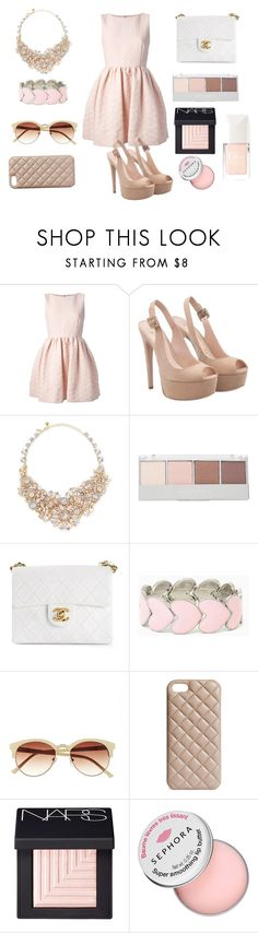 """Без названия #81"" by alisijaa ❤ liked on Polyvore featuring RED Valentino, Kate Spade, Witchery, Chanel, Vince Camuto, The Case Factory, NARS Cosmetics, Sephora Collection, Christian Dior and contestentry"