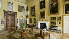 National Trust's Kingston Lacy, Dorset, is an elegant country mansion set in attractive formal gardens and extensive parkland. Kingston Lacy, English Architecture, Grand Homes, National Trust, Home And Family, Interior Design, Places, Drawing Rooms, Castles