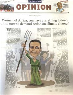 #Women of #Africa, you have everything to lose, unite now to demand action on #climatechange! Illustration: John Nyagah/National Media Group