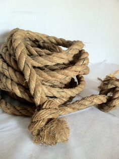 Vintage Boat Nautical Rope by ZassysTreasures on Etsy, $25.00