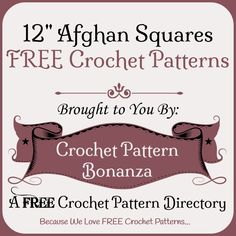 FREE Crochet Patterns collected on CPB.