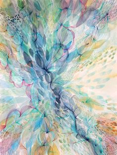 ARTFINDER: Burst out by Helen Wells - A beautiful abstract watercolour painting. It depicts a visually rich, illusionary organic landscape. Inspired by bursting into laughter. I love the idea of. Abstract Drawings, Abstract Watercolor, Watercolour Painting, Abstract Art, Watercolours, Art Background, Ancient Art, Art And Architecture, Painting Inspiration