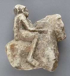 Egypt  Equestrian With Shield, Greco-Roman Period (332BCE - 337 CE)  Stone; Sculpture, Limestone, 3 9/16 x 3 1/4 in. ( 9 x 8.2 cm)  Gift of Robert Miller and Marilyn Miller Deluca (M.80.199.144)  Egyptian Art Department. LACMA
