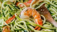 Anabolic Cooking Cookbook - Cucumber Noodles with Garlic Shrimp - Mommys Home Cooking The legendary Anabolic Cooking Cookbook. The Ultimate Cookbook and Nutrition Guide for Bodybuilding & Fitness. More than 200 muscle building and fat burning recipes. Hcg Diet Recipes, Shrimp Recipes, Cooking Recipes, Healthy Recipes, Hcg Meals, Noodle Recipes, Hcg Chicken Recipes, Elimination Diet Recipes, Cucumber Recipes