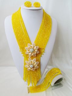 Find More Jewelry Sets Information about 2016 Fashion Yellow african crystal beads necklace set nigerian wedding african beads jewelry Set Free shipping  C1516,High Quality jewelry set,China jewelry kit Suppliers, Cheap jewelry cost from Chinese jewelry import and export co., LTD on Aliexpress.com