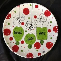 personalized christmas plates - Google Search & Christmas Family Plate - Personalized Ceramic Plate - Hand Painted ...