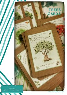 our Jewish little place: Trees illustrated cards