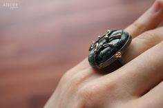 14kt Gold & Oxidized Sterling Silver Ring by ATELIER Gaby Marcos