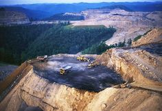 """Strip mining can also include """"mountaintop removal,"""" which, as the process is known, has already flattened nearly 500 Appalachian peaks, according to the Natural Resources Defense Council. This photo shows a mountain in Kentucky"""