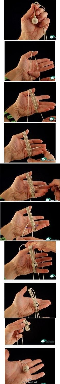 Funny pictures about How To Make The Chinese Knot Ball. Oh, and cool pics about How To Make The Chinese Knot Ball. Also, How To Make The Chinese Knot Ball photos. Fun Crafts, Diy And Crafts, Arts And Crafts, Baby Crafts, Diy Projects To Try, Craft Projects, Sewing Projects, Monkey Knot, Paracord Projects