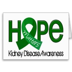 kidney disease ribbon | Kidney Disease Ribbon Cards, Photocards, Invitations & More