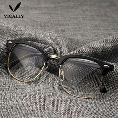 5083c4f016699 Hot Fashion Retro Half-frame Glasses Frame Men Women Optical Glasses With  Cleardresskily Specs Frame
