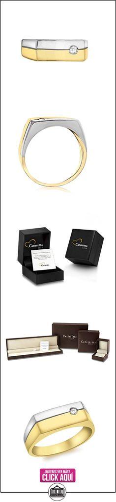 Carissima Gold Anillo de mujer con oro bicolor 9 quilates (375), diamante, tamaño 22  ✿ Joyas para hombres especiales - lujo ✿ ▬► Ver oferta: https://comprar.io/goto/B01IUV1J0U