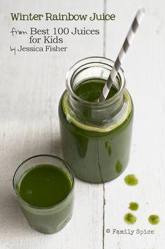 Winter Rainbow Juice // Best 100 Juices For Kids
