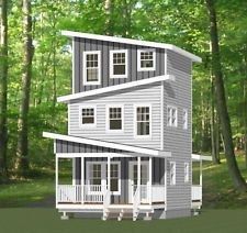 16x16 Tiny House-- 671 sq ft -- PDF FloorPlan -- Model 22D