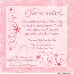 56 best invitations baby images on pinterest baby shower themes image detail for winter baby shower invitation snowy elegance pink girl filmwisefo