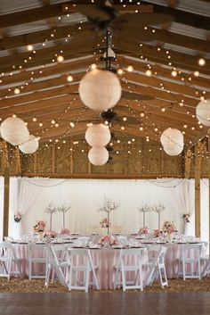 30 chic wedding tent decoration ideas wedding tent decorations 44 romantic barn wedding lights ideas weddingomania weddingomania chinese wedding decorchinese lanterns junglespirit Choice Image