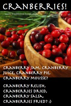 Cranberries are a Great Antioxidant Food -- @ Traditional-Foods.com