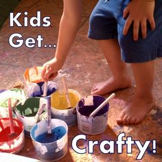The Truth About Crafting with Kids- Tips on how to make crafting fun.