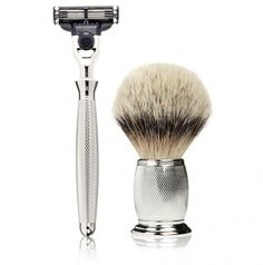 The Art of Shaving Engraved Nickel set
